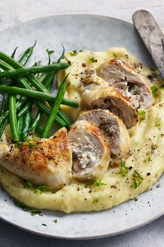 Rick Stein's stuffed chicken leg recipe with mushrooms and Comté makes a great dinner party dish. Bbc Good Food Recipes, Cooking Recipes, Uk Recipes, Cheesy Chicken, Chicken Legs, Chicken Leg Recipes, Le Chef, Main Meals, Food For Thought
