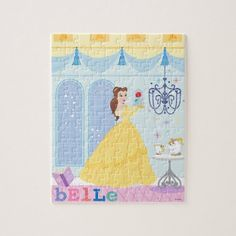 Shop Belle in the Castle With The Rose Jigsaw Puzzle created by DisneyPrincess. Disney Princess Puzzles, Disney Princess Gifts, Disney Puzzles, Puzzles For Kids, Disney Princesses, New Disney Movies, Snow White Birthday, Cute Doodle Art, Cinderella Birthday