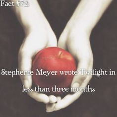 ~ I wanna write a book, but I don't have the patience for it. {#twilightsaga#twilight#stepheniemeyer#twifact72}