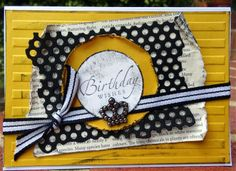 Birthday wishes card using perforated mesh die www.craftqueen.com.au