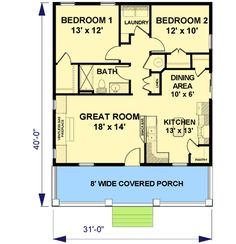 Cottage - Not really tiny but a nice small house plan.