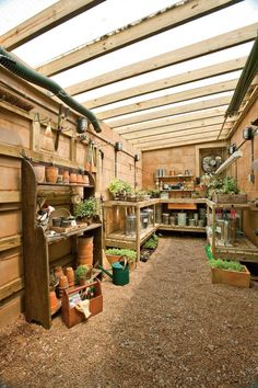 I have garden envy for this shed/greenhouse.