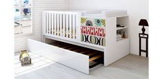 trundle beds under crib - Perfect for when you need a spare bed for visiting kids and the nursery is the only space...