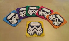 Stormtroopers coasters - Star Wars perler beads by RavenTezea on deviantART