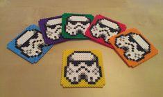 Stormtroopers coasters - Star Wars perler beads by RavenTezea on deviantART