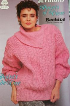 Sweater Knitting Patterns Beehive Patons 610 Vintage by elanknits