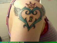 Freaking sweet Kingdom Hearts tattoo