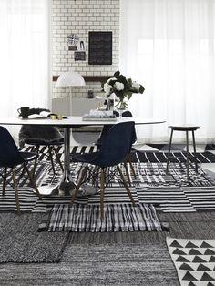 black and white - rug