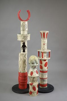 Peggy Bishop clay totem pole - modern family
