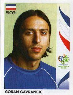 Dejan Stankovic of Serbia. 2006 World Cup Finals card. 2006 World Cup Final, Serbia And Montenegro, Football Stickers, Fifa World Cup, Finals, Germany, Soccer, Image, Ms
