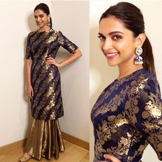 Deepika Padukone in Raw Mango; ditch the dupatta with this look and this is perfect for sangeet and engagement.