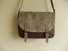 Messenger Bag leather and canvas