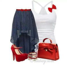 I love the skirt and shoes
