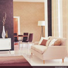 #Love the #neutral shades that invite a pop of colour that can change one's mood! #Decorgasm