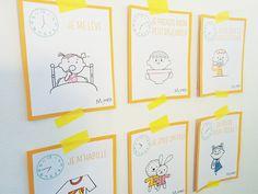 carte matin- a imprimer , routine des enfants -educatif