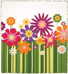 Beautiful pattern!  LOVE the fun summer colors.
