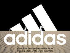 Coupe du monde au Qatar 2022: des logos détournés pour appeler les sponsors du mondial à se retirer