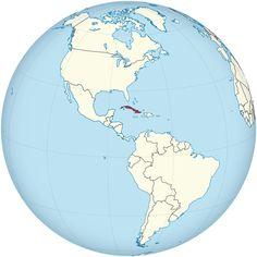 Localização de Cuba