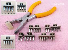 2+4prong 4/5/5.5mm Stitching Chisel Leather Nippers Set Leathercraft Tool