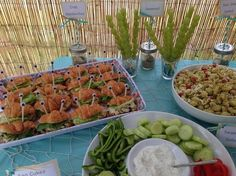 Crab sandwiches at a Little Mermaid birthday party! See more party planning ideas at CatchMyParty.com!