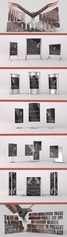 6 Flyer and Poster MOCK-UPS Set Pack