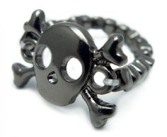 Julia Collection, Inc - Skull and Bones Ring (Hematite), $3.99 (http://www.juliacollection.com/skull-and-bones-ring-hematite/)