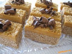 Picture of Recept - Orechovo - karamelový zákusok Czech Recipes, Russian Recipes, Cake Bars, 20 Min, Something Sweet, Sweet Recipes, Caramel, Cheesecake, Cooking Recipes
