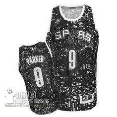Camisetas Nba Baratas Ciudad Luces Swingman Parker #9 Negro San Antonio Spurs  €21.9