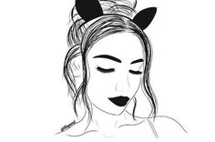 Mar this pin was discovered by hnye. Tumblr Sketches, Tumblr Drawings, Tumblr Art, Tumblr Girls, Cute Drawings, Girl Drawings, Teenage Drawings, Easy Drawings For Kids, Easy Drawing Steps