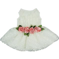 Pretty in Lace Tulle Formal Dog Dress