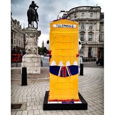 Muncher the monster @BTArtBox is now living on Trafalgar Square roundabout till mid-July