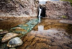 Magnificent Fairy Pools in Scotland.