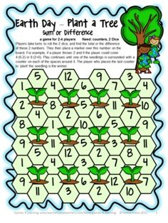 FREEBIE Earth Day Math Board Games  from Games 4 Learning. Done