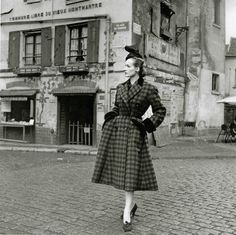 Coat by Christian Dior, photo by Willy Maywald, 1950