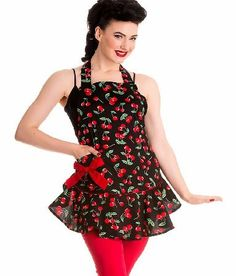 Hell Bunny Cherry Pie Apron 7080 If you love cooking and looking like a retro glamour puss at the same time, you need the Cherry Pie Apron by Hell Bunny in your life! This fun lil kitchen must-have has an all over print of delicious  http://www.comparestoreprices.co.uk/fashion-clothing/hell-bunny-cherry-pie-apron-7080.asp