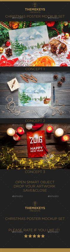 In  Christmas Flyers Templates Psd Bundle Design Xmas