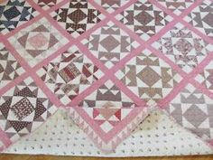Civil War Era Antique Quilt Sawtooth Border Gorgeous Fabrics | eBay Vintageblessings