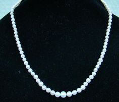 "20"" CULTURED CREAMY WHITE COLOR FRESHWATER 4MM - 7.5mm GRADUATED PEARLS NECKLACE #StrandString"