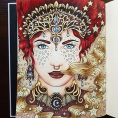 """128 Likes, 14 Comments - Pencils and Watercolor (@pencils_and_watercolor) on Instagram: """"Gaara Theme  #coloringbooks #coloringbook #magiskgryningmålarbok #hannakarlzon…"""""""