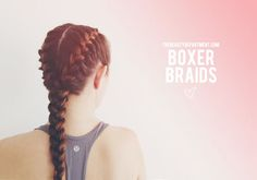 Good Looking And Practical Workout & Gym Hairstyles -Boxer Braids Boxer Braids Hairstyles, Athletic Hairstyles, French Braid Hairstyles, Workout Hairstyles, Pretty Hairstyles, French Braids, Sport Hairstyles, Gymnastics Hairstyles, Volleyball Hairstyles
