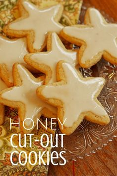These are not your traditional cut-out cookies!  Using honey as the sugar, you will love hearty these are and how beatifully golden they cook up.