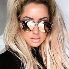 mirror sunglasses for women  Brand Design Grade Aviator Sunglasses Women Men Mirror Sunglasses ...
