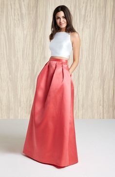 Xscape Beaded Two-Piece Satin Ball Gown | Nordstrom 248.00