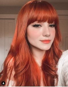 Cabelo Ombre Hair, Red Hair Color, Red Orange Hair, Ginger Hair, Hair Day, Hair Looks, Pretty Hairstyles, Dyed Hair, Hair Inspiration