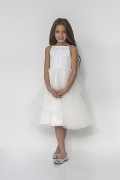 Style 5924 Northie La Petite by Hayley Paige gown - Ivory/Cashmere Marrakesh beaded mini-ball gown, bateau neckline and tiered tulle skirt. Available in: Ivory/ Cashmere and Ivory/Ivory Bridal Dress Stores, Bridal Dresses, Flower Girl Dresses, Bridesmaid Dresses, Prom Dresses, Flower Girls, Winter Dress Outfits, Spring Dresses, Casual Wedding Attire