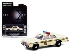 """1983 Ford LTD Crown Victoria Cream """"Ardis MD Police"""" """"The X-Files"""" (1993-2002) TV Series """"Hollywood Series"""" Release 30 1/64 Diecast Model Car Ford Ltd, Rubber Tires, Diecast Model Cars, Tv Series, Police, Victoria, Hollywood, Crown, Corona"""