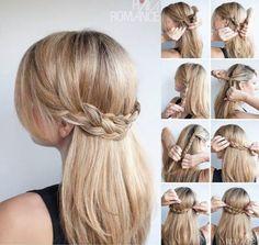 penteados simples de fazer