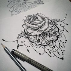 Would love something like this as a sternum tat, just with an orchid instead of a rose