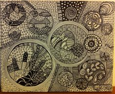2014 - técnica Zentangle