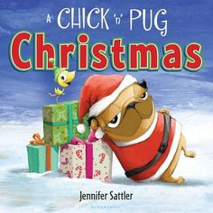 "Read ""A Chick 'n' Pug Christmas"" by Jennifer Sattler available from Rakuten Kobo. Pug is ready for the holidays in his extra cute-and extra itchy-Santa suit. Chick wants one just like it . until Pug. Pug Christmas, Christmas Books, Christmas Stuff, Christmas Ideas, Christmas Countdown, Christmas 2016, Holiday Fun, Festive, Pugs"